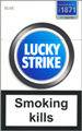 Lucky Strike Lights (Blue) Cigarettes pack