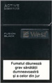 West Black Fusion Cigarettes pack