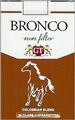 BRONCO NON FILTER KING Cigarettes pack