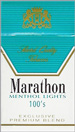 MARATHON MENTHOL LIGHT BOX 100 Cigarettes pack