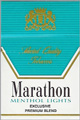 MARATHON MENTHOL LT BOX KING Cigarettes pack